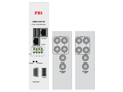 OFDM/QAM трансмодулятор счетверенный с IP4-in/MUX - DMM-2410TM-30T2C PBI