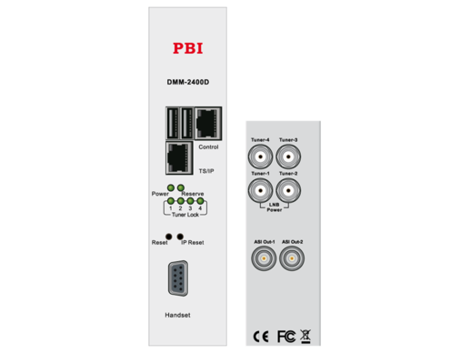 Спутниковый приемник Quad IRD HD/SD c ASI-out/MUX/IP - DMM-2410D-S2 PBI