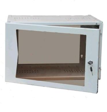 Шкаф настенный 19'' 6U со стеклянной дверцей
