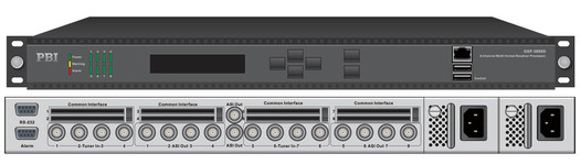 Профессиональный ресивер 8xDVB-S2 с 8xCI/MUX/8xASI-out/IP - DXP-3800D-S2