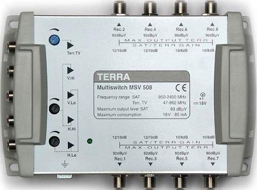 Мультисвитч для спутникового телевидения TERRA MV508