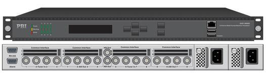 Профессиональный ресивер 8xDVB-C с 8xCI/MUX/8xASI-out/IP - DXP-3800D-C