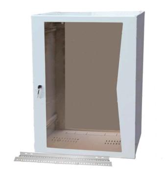 Шкаф настенный 19'' 12U со стеклянной дверцей