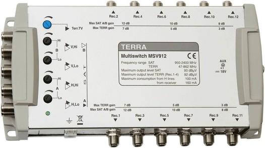 Мультисвитч для спутникового телевидения TERRA MV912L