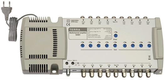 Головной усилитель для спутниковых мультисвитчей TERRA SA901