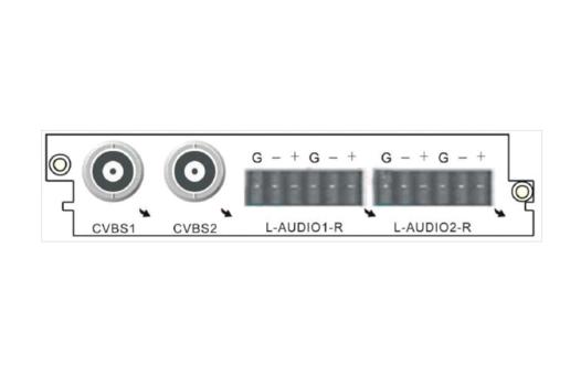 Карта двухканальный аналоговый MPEG-2/H.264/AVS+ SD декодер C210AS