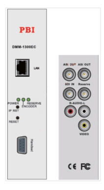 Кодер MPEG-2/SD с ASI-out/MUX/IP - DMM-1300EC-40 PBI