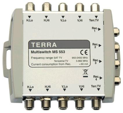 Мультисвитч спутниковый TERRA MS553