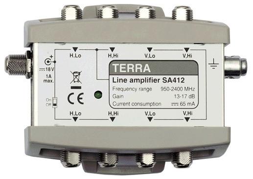 Усилитель спутникового сигнала телевизионный TERRA SA412