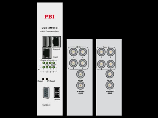 ASI/QAM трансмодулятор счетверенный с IP4-in/MUX - DMM-2400TM-30AC PBI