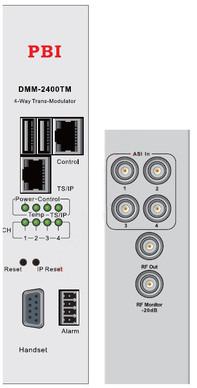 ASI/QAM трансмодулятор счетверенный с IP4-in/MUX - DMM-2410TM-30AC PBI