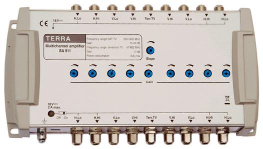 Головной усилитель для спутниковых мультисвитчей TERRA SA911