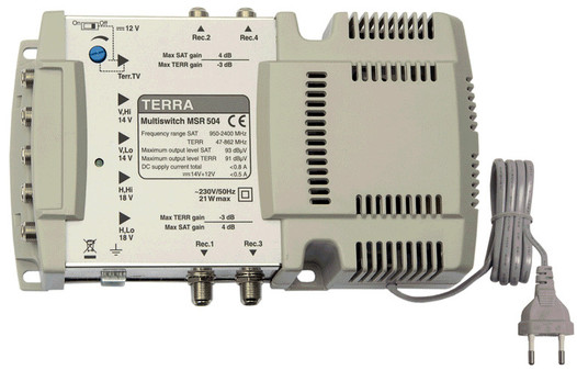 Мультисвитч спутниковый TERRA MSR504
