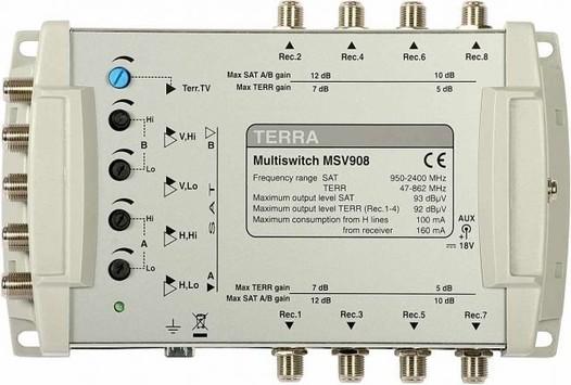 Мультисвитч для спутникового телевидения TERRA MV908L
