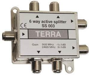 Делитель тв сигнала ПЧ спутниковый на 6 TERRA SS003