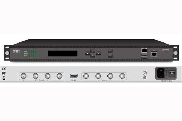 Профессиональный ресивер FTA 8xDVB-T2 с IP выходом - DXP-8000D-T2