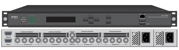 Профессиональный ресивер 8xDVB-T2 с 8xCI/MUX/8xASI-out/IP - DXP-3800D-T2