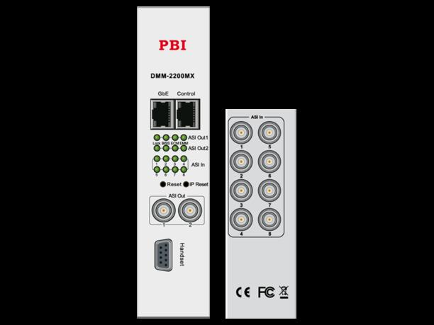 Мультиплексор 8-канальный с ASI/IP - DMM-2200DX PBI