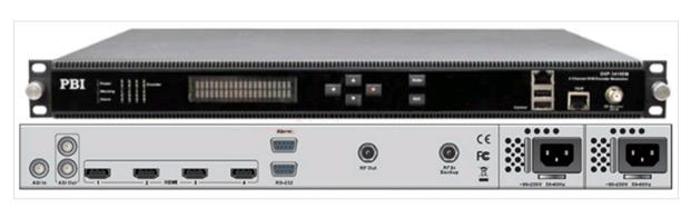 Кодер 4xH.264/HD/SD с 4xSDI/MUX/ASI/IP,AAC и модулятором DVB-C/T - DXP-5410EM-S PBI