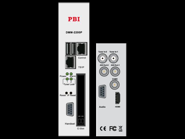 Спутниковый приемник Twin IRD HD/SD с ASI-out/MUX/IP32 - DMM-2200P-S2 PBI